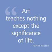 Art teaches nothing except...