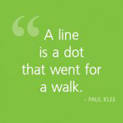 A line is a dot...