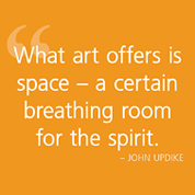 What art offers...